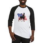 American Flag Doberman Baseball Jersey