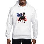 American Flag Doberman Hooded Sweatshirt