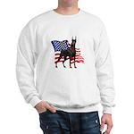 American Flag Doberman Sweatshirt