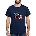 American Flag Doberman Dark T-Shirt