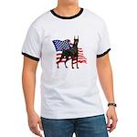 American Flag Doberman Ringer T
