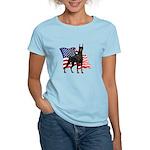 American Flag Doberman Women's Light T-Shirt