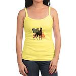 American Flag Doberman Jr. Spaghetti Tank