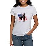 American Flag Doberman Women's T-Shirt