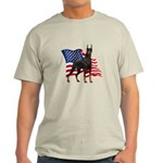 American Flag Doberman Light T-Shirt