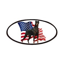 American Flag Doberman Patches