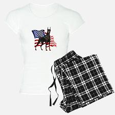 American Flag Doberman Pajamas