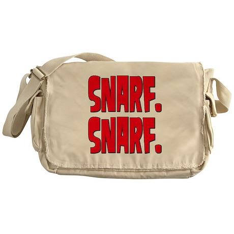 Snarf. Snarf. Messenger Bag