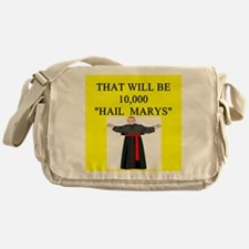 catholic joke Messenger Bag
