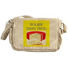 christian cheese joke Messenger Bag