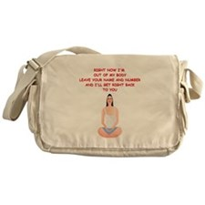 meditation joke Messenger Bag