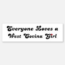 Loves West Covina Girl Bumper Bumper Bumper Sticker