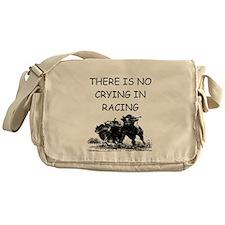 i love horse racing Messenger Bag