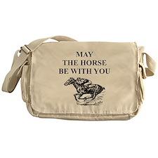 thoroughbred horse racing Messenger Bag
