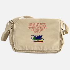 dragon humor on gifts and t-s Messenger Bag
