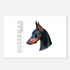 Doberman Postcards (Package of 8)