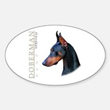 Doberman Sticker (Oval)