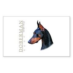 Doberman Sticker (Rectangle 10 pk)