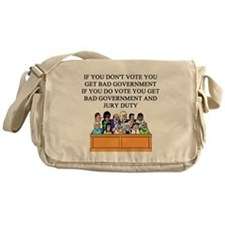 voter government jury duty Messenger Bag