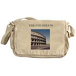 the colisseum rome italy gift Messenger Bag