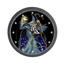 Wizard Wall Clock complete with stars for numerals