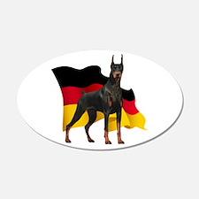 German Flag Doberman 22x14 Oval Wall Peel