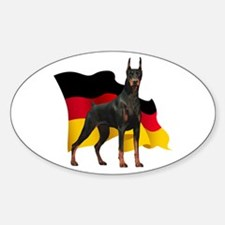 German Flag Doberman Sticker (Oval)