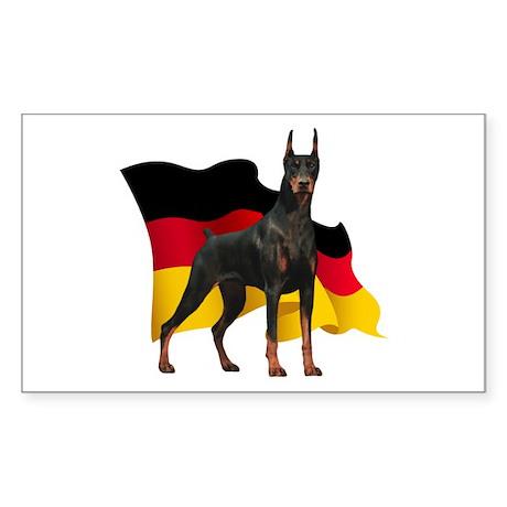 German Flag Doberman Sticker (Rectangle)