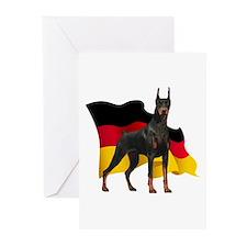 German Flag Doberman Greeting Cards (Pk of 20)