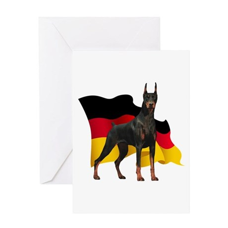 German Flag Doberman Greeting Card