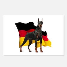 German Flag Doberman Postcards (Package of 8)