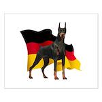 German Flag Doberman Small Poster