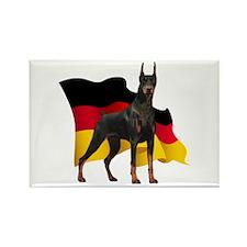 German Flag Doberman Rectangle Magnet