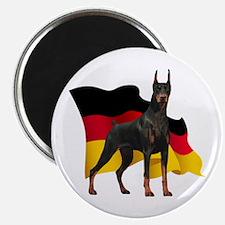 German Flag Doberman Magnet