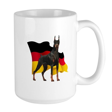 German Flag Doberman Large Mug