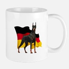 German Flag Doberman Mug