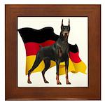 German Flag Doberman Framed Tile