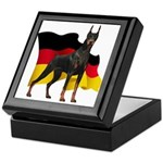 German Flag Doberman Keepsake Box