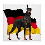 German Flag Doberman Tile Coaster