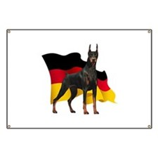 German Flag Doberman Banner