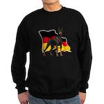 German Flag Doberman Sweatshirt (dark)