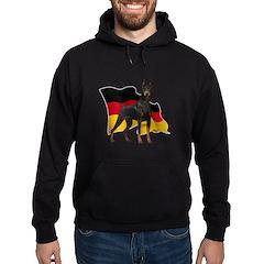 German Flag Doberman Hoodie (dark)