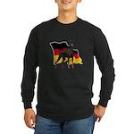 German Flag Doberman Long Sleeve Dark T-Shirt