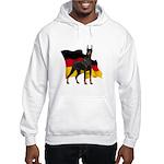 German Flag Doberman Hooded Sweatshirt