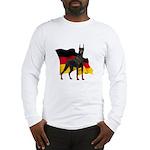 German Flag Doberman Long Sleeve T-Shirt