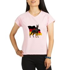 German Flag Doberman Performance Dry T-Shirt