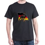 German Flag Doberman Dark T-Shirt
