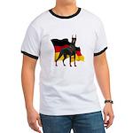 German Flag Doberman Ringer T