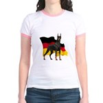 German Flag Doberman Jr. Ringer T-Shirt