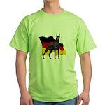 German Flag Doberman Green T-Shirt
